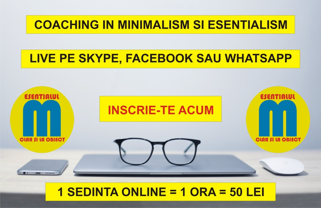 Coaching minimalism si esentialism - 24.06.2019